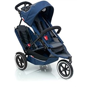 phil&teds Inline Sport Buggy w/ DOUBLES KIT (Navy) Review